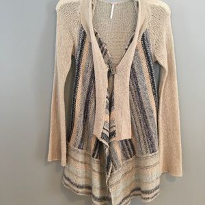 Free People cardigan/poncho sweater